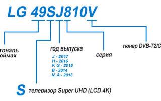 Расшифровка маркировки моделей телевизоров LG — как разобраться в моделях производителя
