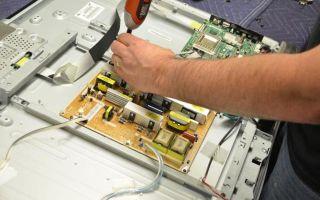 Разбит экран ЖК телевизора — возможен ли ремонт