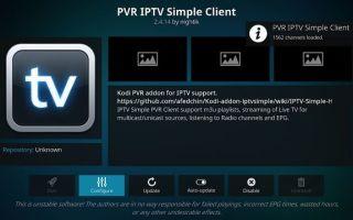 Pvr IPTV Simple Client Kodi — как установить и где скачать программу?