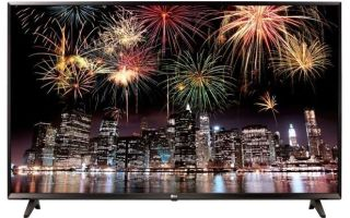 Телевизор lg 43uj631v — технические характеристики