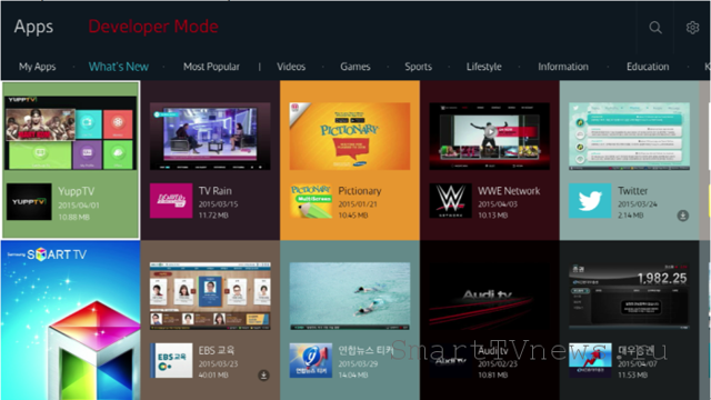 Операционная система tizen os на Samsung smart TV