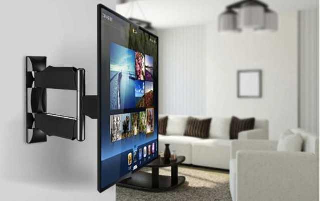 Настенное крепление для ЖК телевизора - в спальне и кухне