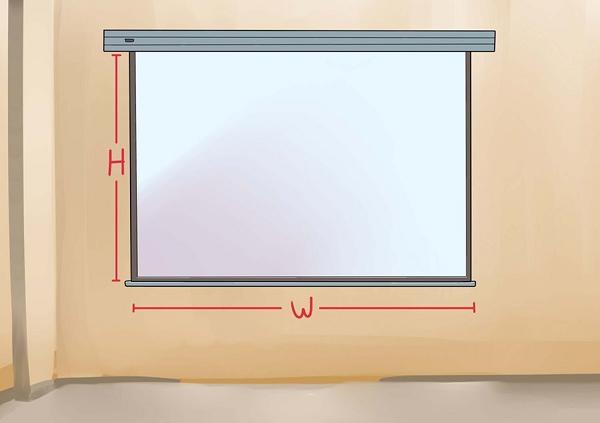 Экран для проектора рулонный настенный - как установить
